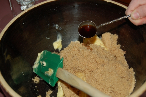 In another bowl add butter, sugar and vanilla extract