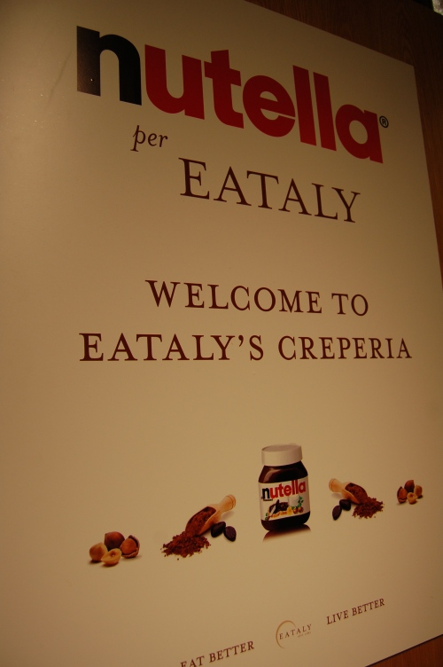 The new Nutella Creperia in Eataly