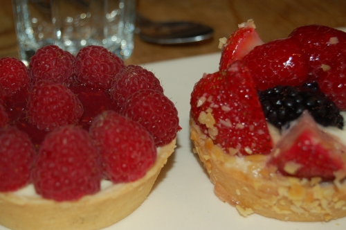 Raspberry tart, Mixed-berry tart from Pain de Quotidien