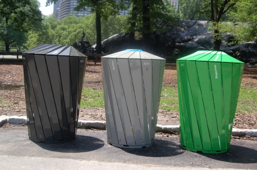 Trash cans or art? - you tell me!