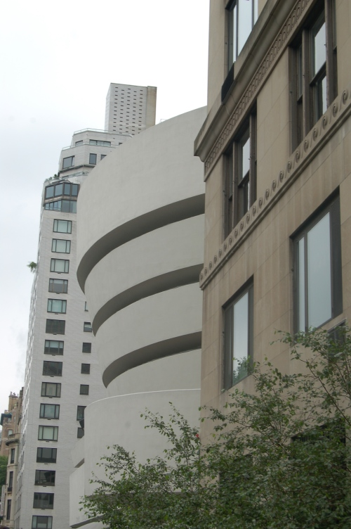 The Guggenheim easily recognizable on the Upper East side