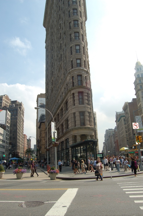 The lovely Flatiron building across from the Eataly market