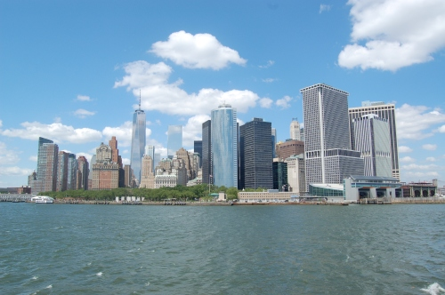 The View of Lower Manhattan from the ferry