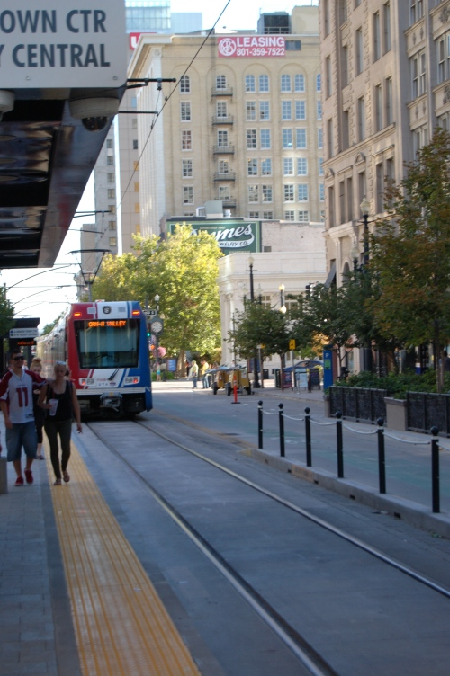 The Light Rail train i took to downtown, Salt Lake City