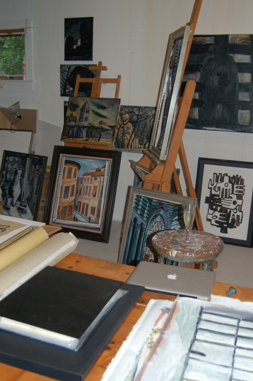 Inside the Painting Studio
