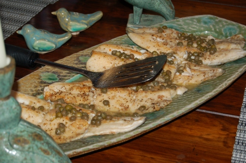 A wonder Baked Trout with Capers by Pat - yum!