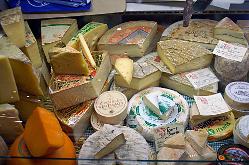 Typical selection of cheese at any supermarkert in Ireland