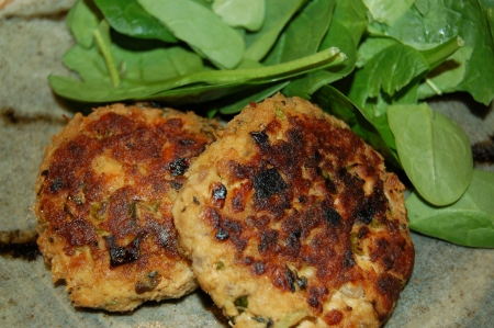 Let's not forget the Salmon Cakes! (recipe below and not to be missed)
