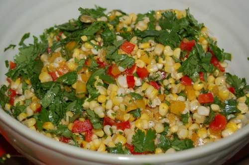 Roasted Corn Salad: crunchy and delicius