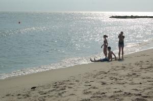 Back on the familiar beach