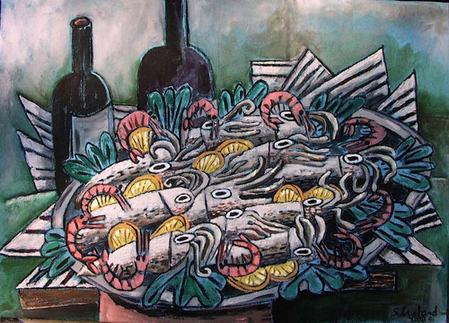 Frutta di Mare by Shawn Ireland (Oil on Canvas)