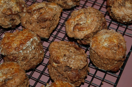 My version of the Chocolate Scone (which will definitely be added to my long list of: how many ways can I make a scone)