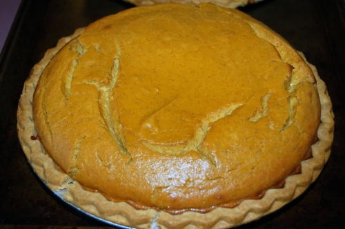 Pumpkin Pie yesterday made using the recipe from Dave's grandmother