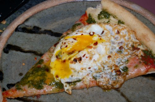 Pizza Fried Egg